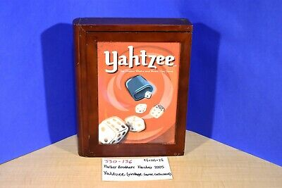 Parker Bros. Hasbro 2005 Yahtzee Vintage Game Collection in Wooden Box(330-136)