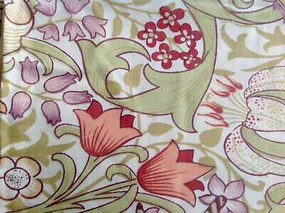 Arts & Crafts Golden Lily William Morris floral Throw Throwover Bed Chair Cover