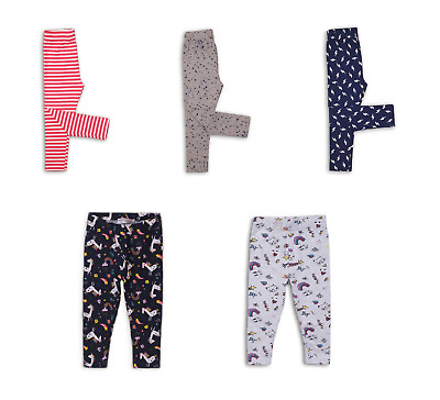 Baby Girls Toddlers Leggings Trousers Bottoms Grey Pink Navy 9 Months-3 Years