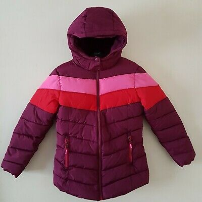 Next Girls Padded Coat Multi Shower Resistant Hooded Jacket 13 Years