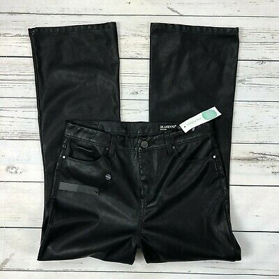 BlankNYC Kickflare Faux Leather Pants Size 29 Womens Black Pleather Ankle Crop