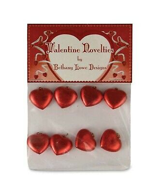 """VALENTINE HEARTS Set of 8 -  3/4"""" - by Bethany Lowe - LG4303"""