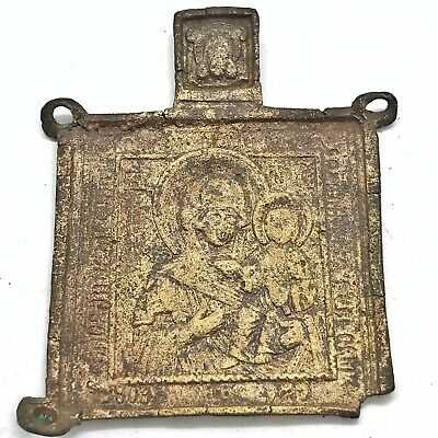 Old Medieval European Pendant Holy Relic Catholic Orthodox Christian 800-1500 AD