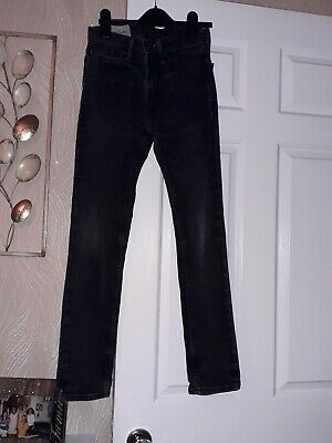 Boys Abercrombie and Fitch Black Skinny Jeans Age 12 Immaculate