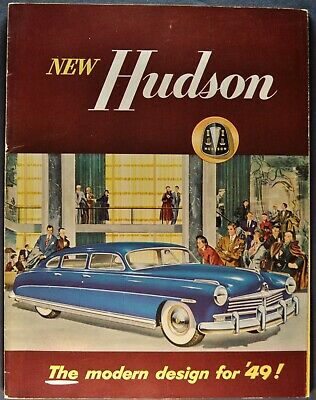 1949 Hudson 24pg Brochure Commodore Super Six 6 Eight 8 Excellent Original 49