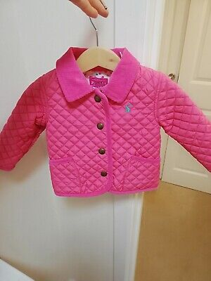 Great Girls Pink Joules Padded Coat, Age 3/6 Months!!