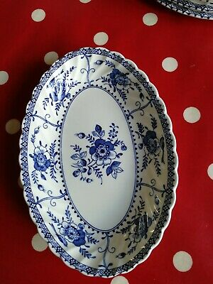 Johnson Brothers Blue Indies Oval Sauce Boat Stand Saucer