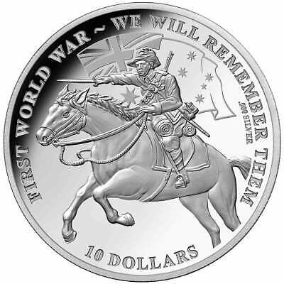 2017 $10 'We Will Remember Them' Silver Commemorative Coin