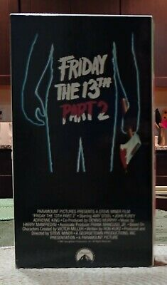 Friday The 13th Part 2 VHS Horror Amy Steel 80s Paramount Release Mint