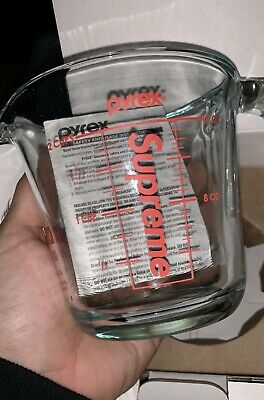Supreme FW19 Pyrex Measuring Cup Clear Brand New 100% Authentic Box Logo 2020