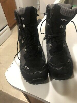 SALOMON SNOWTRIP BLACK Waterproof Thinsulate Sherpa Lined