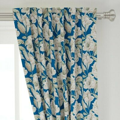 "Floral Southern Magnolia Watercolor 50"" Wide Curtain Panel by Roostery"