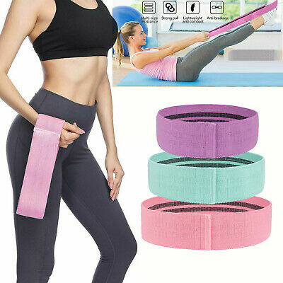 Fabric Resistance Bands Butt Exercise Loop Circles Set Legs Glutes Women