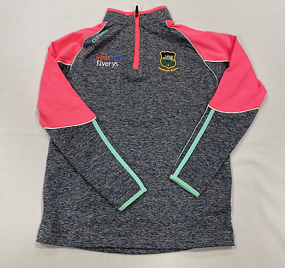 Oneills Tiobraid Arann Blue/Pink Tracksuit Jacket Girls Size UK10-11Years*REF153