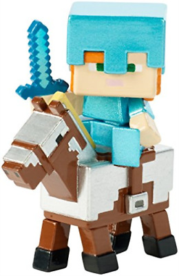 Toys-Minecraft -Deluxe Figure Alex on Armored Horse (FVH10)  (UK IMPORT) TOY NEW