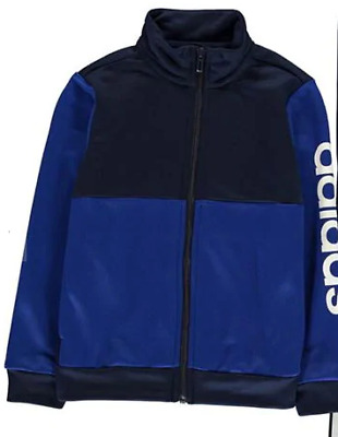 ADIDAS Linear Poly Tracksuit Jacket Navy/Blue Junior Boys Size UK7-8Years*REF153