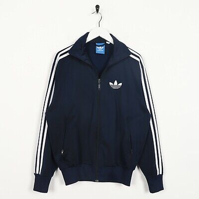 Vintage ADIDAS ORIGINALS Small Trefoil Logo Tracksuit Top Jacket Navy | XS