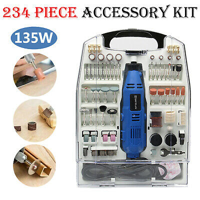 234pc Multi Rotary Tool Hobby Craft Mini Drill Grinder Power Set Electric Dremel