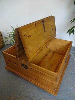 Lovely Wood Wooden Double Side Opening Chest Box Coffee Table