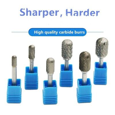 6mm Shank Tungsten Carbide Rotary Point Burr File Grinder Drill Bit Head