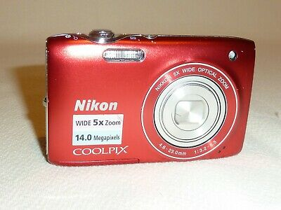 Nikon Coolpix S3100 14 Mp Digital Camera In Red Finish