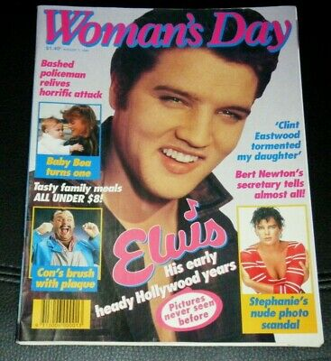 Vintage August 1 1989 Woman's Day Magazine Elvis Clint Eastwood Fergie