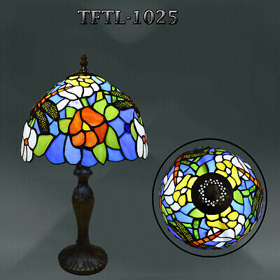 Stunning Tiffany Style Handcrafted Table Lamp Beautiful Rose Design Home Decor
