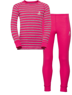 Odlo Pink Activwear Warm Kids Girls Set Size UK 2-3T *RefAB3