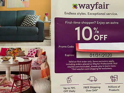 New WAYFAIR 10% Off Entire FIRST ORDER EXP. 1/31/2020 Fast Delivery coupon