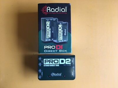 New Radial ProD2 Dual Stereo Passive Direct Box Pro D2