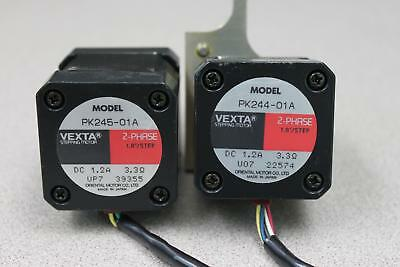 (Lot of 2) Vexta PK Series PK244-01A and PK245-01A Stepping Motors