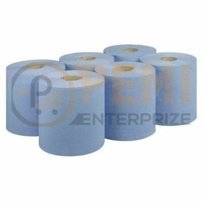 Premium Quality Centrefeed Dispenser Blue Rolls 2 Ply Embossed Paper Hand Towel