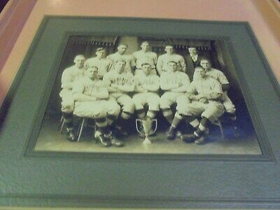 Vintage 1910's-1920's Cabinet Photo Baseball Team Bloomer Wisconsin