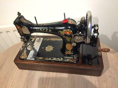 "Rare Vintage Singer Sewing Machine 128K With ""La Vencedora"" Indian Star Variant"