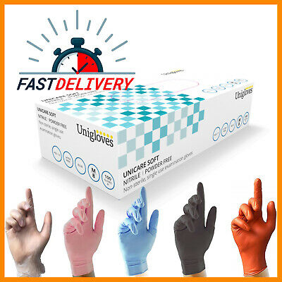100 Disposable Powder Latex Free Clear Vinyl Gloves Nitrile Pink Blue Tattoo