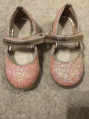 Next Infant Girls 7 Party Shoes Glitter Pink
