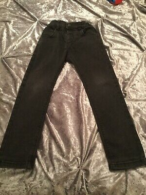 Boys Next Black  Soft Denim Jeans Adjustable Waist Age 5/6