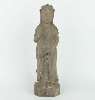Chinese Exquisite Hand carved Guanyin Stone statue