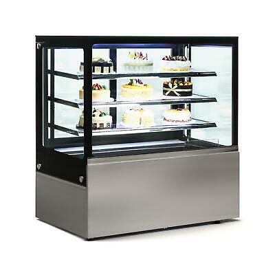 Commercial Display Fridge Cake Showcase 4 Layers 1200mm length heated glass