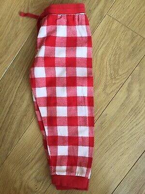 Marks And Spencer Girl Red Checked Pyjamas Bottoms Trousers 2-3-4 Years 😍 M&S