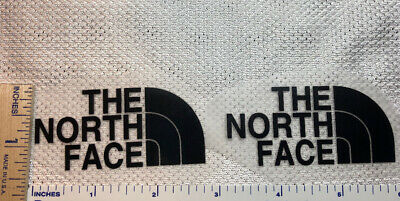 2 Black The North Face Iron On Logos 2 3/4 Inches Wide Logo Lot