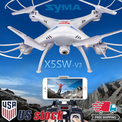 Syma X5SW-V3 2.4G 6-Axis RC Quadcopter Drone with HD Wifi FPV Camera Headless