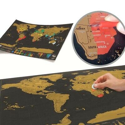 Scratch Off Map World Map Of The World Deluxe Gift Giant Journal Poster