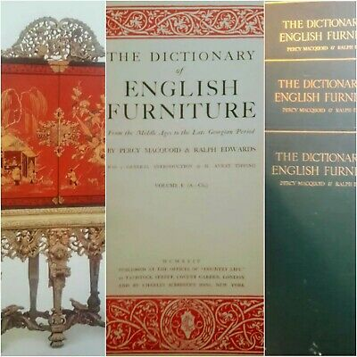 The Dictionary of ENGLISH FURNITURE Middle Ages to the Georgian Period - 3 Vol