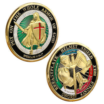Put on the Whole Armor of God Commemorative Challenge Coin Collection Gift New L