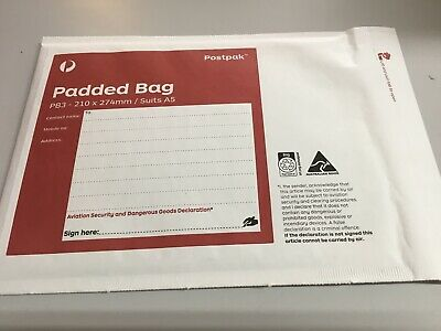 100 x Padded Bag (PB3) - 210 x 274mm Bubble Padded Bag Mailer Envelope Free Post