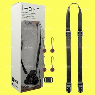 Peak Design Leash v3 Ultralight Quick Connecting Camera Strap (Black) L-BL-3