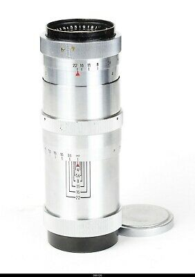 Lens  Zeiss Jena Heavy Chrom  Triotar 4/135mm Red T for Contax S Pentax M42 Mint