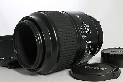 Near Mint Nikon AF Micro Nikkor 105mm f2.8D Lens with Hood from Japan