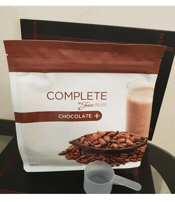 4x Juice Plus Complete Chocolate Shakes Large size 488g New And Sealed